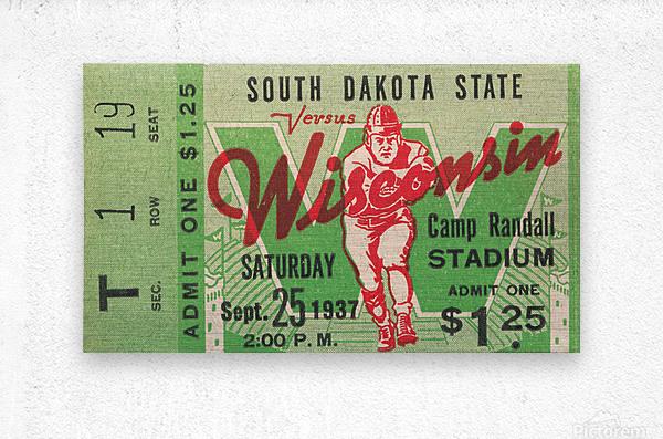 1937 South Dakota Jackrabbits vs. Wisconsin Badgers  Metal print