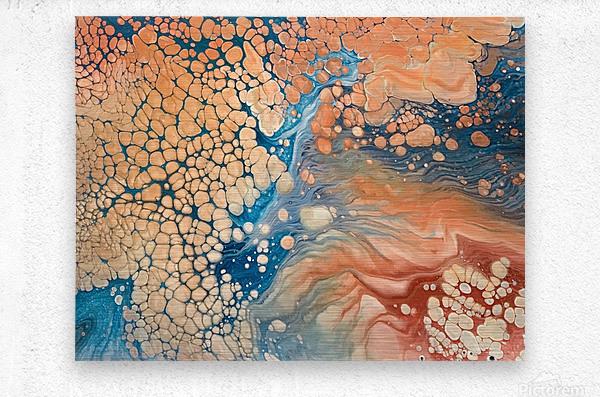 Coral Reef Abstract  Metal print