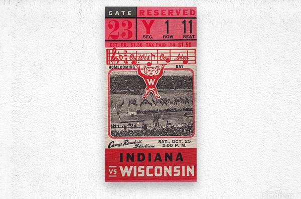 1941 Wisconsin vs. Indiana  Metal print