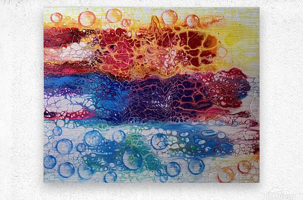 Rainbow Lizard Abstract  Metal print