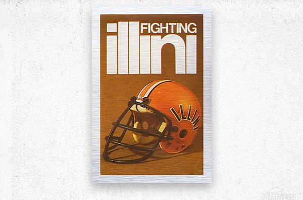 1980 Illinois Illini Football Poster  Metal print