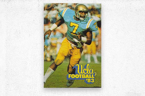 1983 UCLA Bruins Football Poster  Metal print