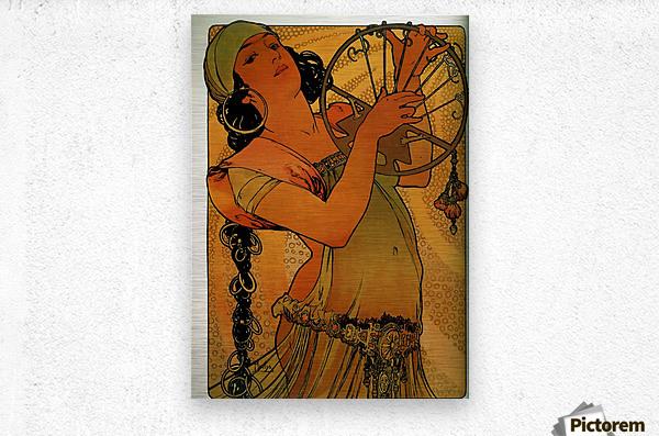 Solome by Alphonse Mucha  Metal print
