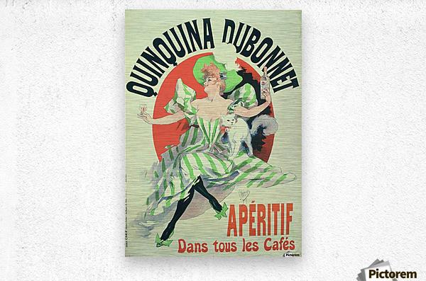 Quinquina Dubonnet - Aperitif dans tous les Cafes poster  Metal print