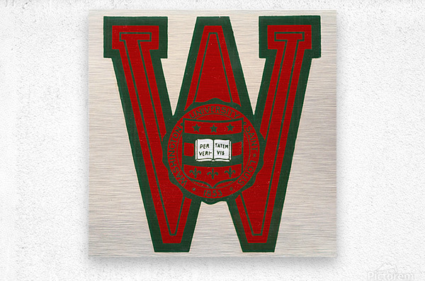 Vintage Fifties Washington University in Saint Louis  Metal print