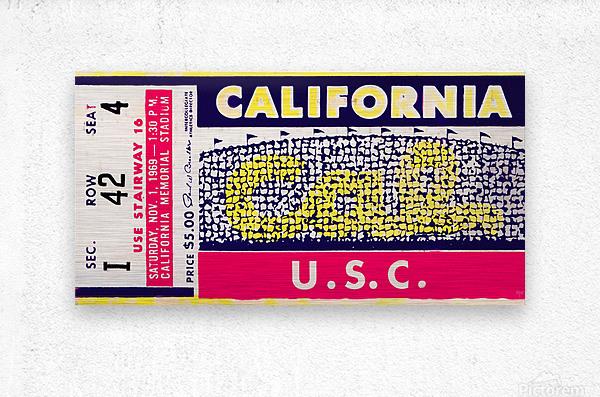 1969 Cal Bears vs. USC Trojans  Metal print
