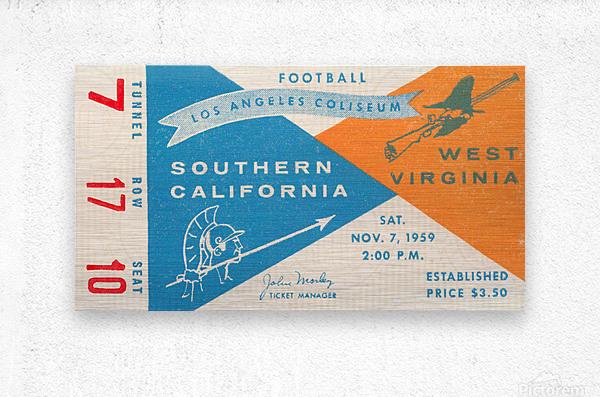 1959 USC vs. West Virginia  Metal print