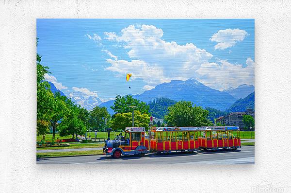 One Day in Interlaken Switzerland 2 of 3  Metal print