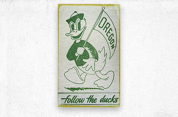 1951 Vintage Oregon Duck Art  Metal print