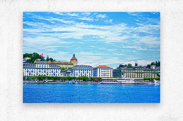 Waterfront   Lucerne Switzerland 2 of 3  Metal print