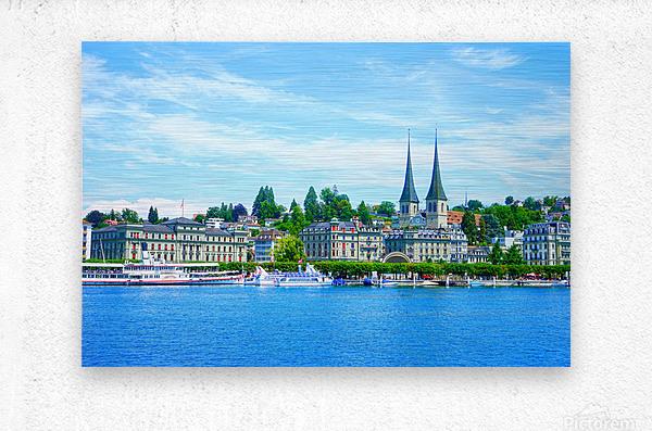 Waterfront   Lucerne Switzerland 1 of 3  Metal print