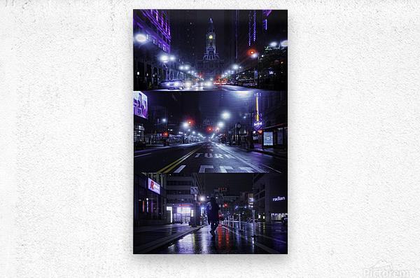 Electric City  Metal print