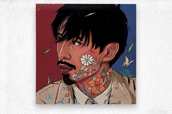 Portrait Painting In The MV Hide and Seek  Metal print
