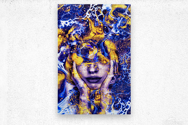 Endless Thoughts  Metal print