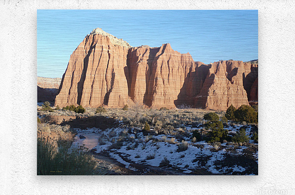Lighted Cathedral  Metal print
