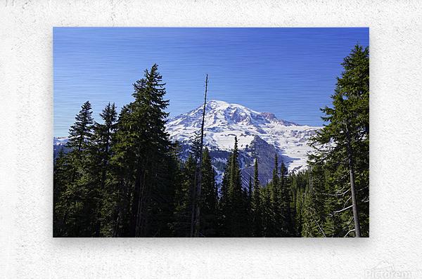 Mount Rainier Pacific Northwest Washington State  Metal print