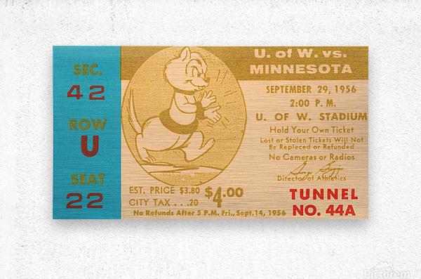 1956 Washington Huskies vs. Minnesota Golden Gophers  Metal print