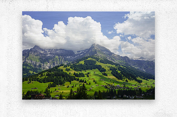 Beautiful Day in the Swiss Alps 2 of 2  Metal print