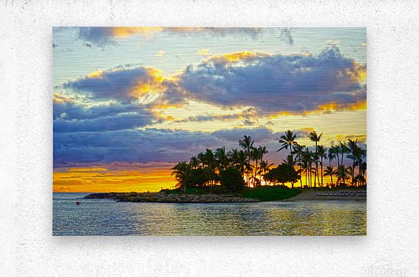 Sunset over Kaula Bay Hawaii  Metal print