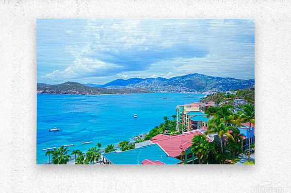 Pacquereau Bay Saint Thomas Caribbean Islands  Metal print