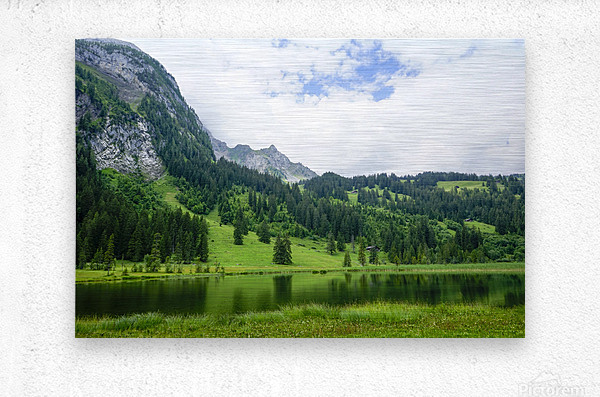 Quiet Morning on the Lake in the Swiss Highlands  Metal print