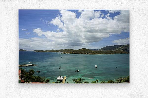 Saint Thomas in the Caribbean Islands  Metal print
