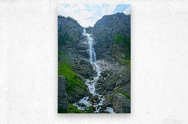 Engstligen Falls Adelboden Switzerland in the Bernese Highlands  Metal print