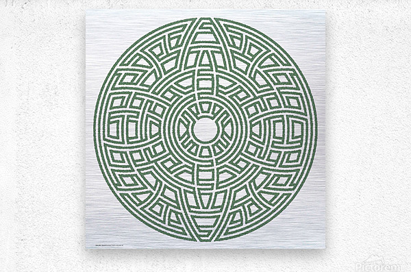 Maze 4803  Metal print