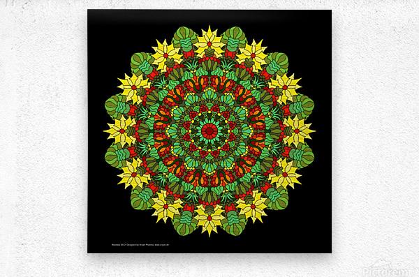 Mandala 2012  Metal print