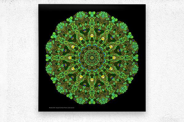 Mandala 2001  Metal print