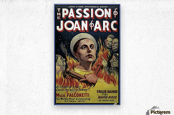 The Passion of Joan of Arc 1928 Ad  Metal print