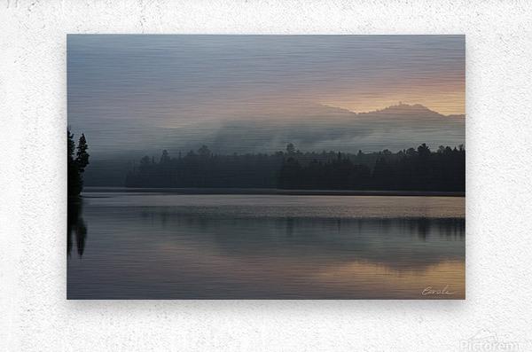 Lever de soleil sur le lac Earhart  1 - Sunrise on Earhart Lake  1  Metal print