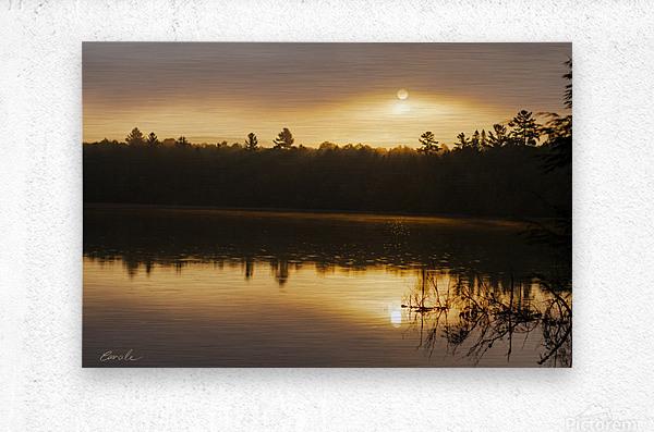 Lever de soleil sur le lac Earhart  2 - Sunrise on Earhart Lake 2  Metal print