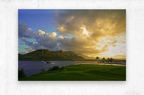 Sunset Nawiliwili Bay Kauai Hawaii  Metal print