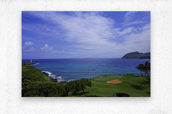 Ninini Point Lighthouse   Kauai Hawaii  Metal print