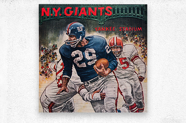 1962 Robert Riger New York Giants Art  Metal print