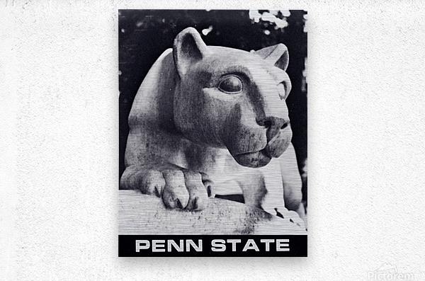 1988 Penn State Nittany Lion Shrine Art  Metal print