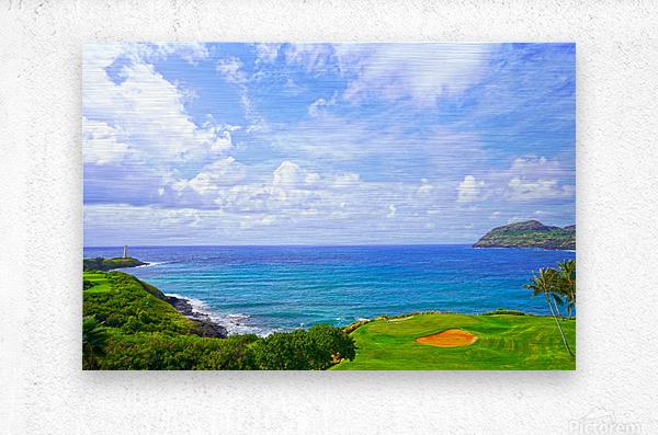 Beautiful Skies over Nawiliwili Bay in Kauai  Metal print