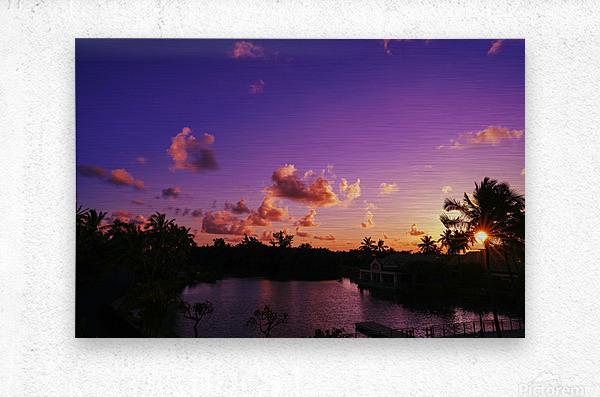 Sunrise over the Lagoon in Kauai  Metal print