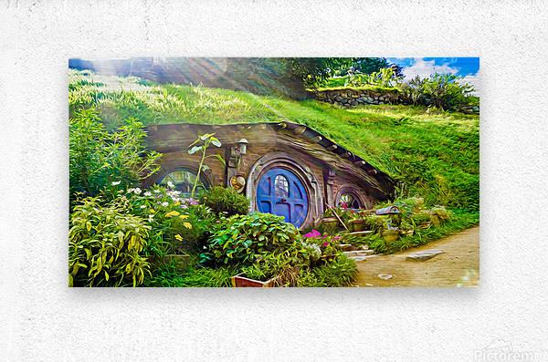 Hobbit Hole  Metal print
