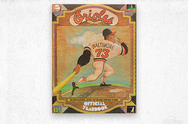 1973 Baltimore Orioles Yearbook Poster  Metal print