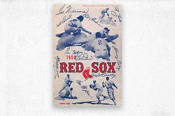 1950 Boston Red Sox Score Book Canvas Art  Metal print