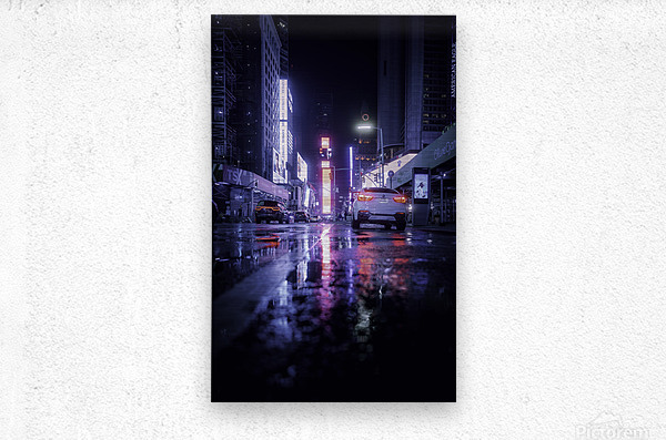 Welcome to Night City  Metal print