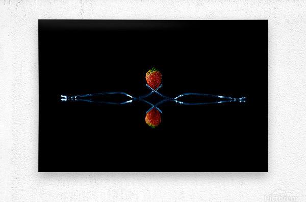 Strawberry Still Life  Metal print