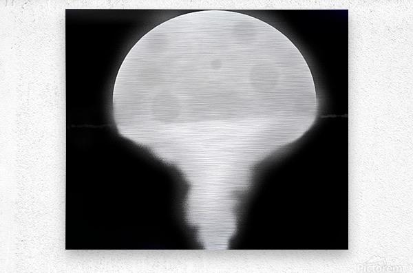 Moon Paint 5  Metal print