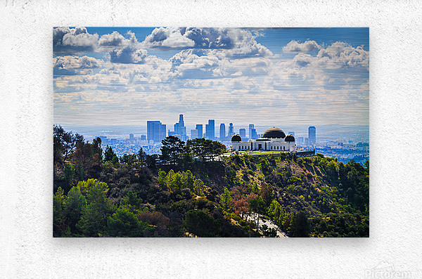 Overlooking Griffith Observatory  Metal print