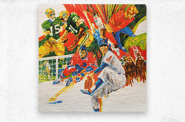 1971 Retro Sports Art  Metal print