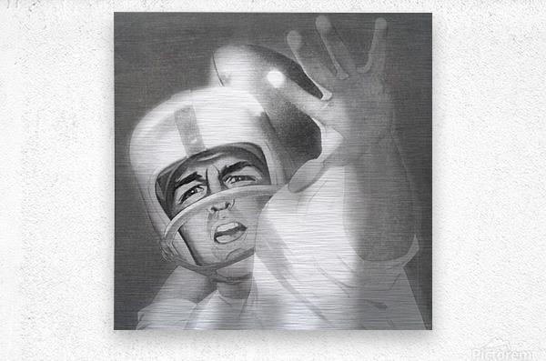 1960 Lon Keller Quarterback Remix Art  Metal print