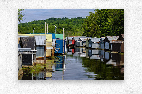 Hangars    bateaux - Boathouses  Metal print