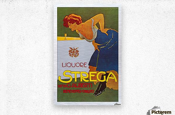 La Donna in Blu poster  Metal print